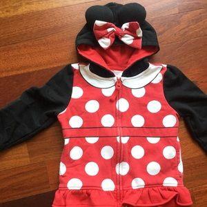 Disney Sz 4T Minnie Mouse hooded sweatshirt